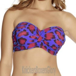 Fantasie Portofino Twist Bandeau Bikini Top - Mediterranean Blue