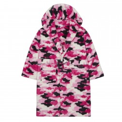 Kids Camo Snuggle Fleece Robe - Pink/Camo