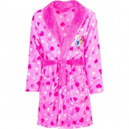 Kids Disney Princess Fleece Robe - Pink