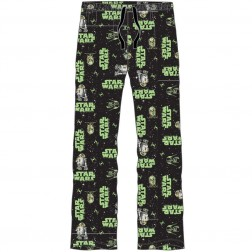 Mens Star Wars Lounge Pants - Black/Green