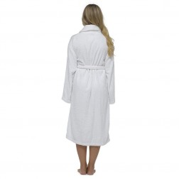 Tom Franks Cotton Towelling Robe - White