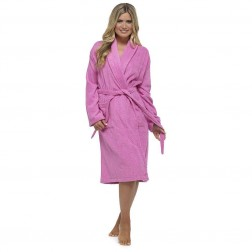 Tom Franks Cotton Towelling Robe - Pink