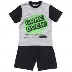 Children's Game Over Short Pyjamas