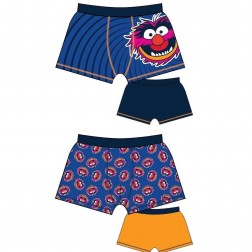 Mens Muppets Animal Trunks (2 Pack) - Blue/Orange