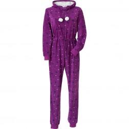 Cameo Fleece Onesie - Purple Stars