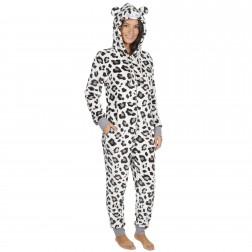 Onezee Ladies Fleece Leopard Onesie