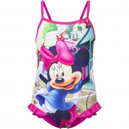 Girls Disney Minnie Beach Hut Pink Swimsuit