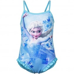 Girls Disney Frozen Elsa Swimsuit - Blue