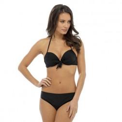 Tom Franks Solid Bikini Set - Black