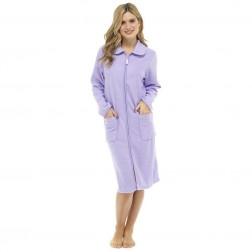 Walter Grange Ladies Zip Through Robe - Lilac