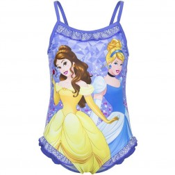 Girls Disney Princess Lilac/Blue Swimsuit