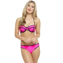 Tom Franks Neon Panel Bikini Set - Pink