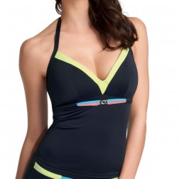 Freya Crush Tankini Top - Black