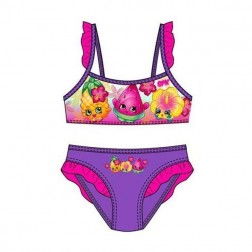 Girls Shopkins Bikini Set - Purple/Pink