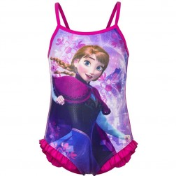 Girls Disney Frozen Anna Swimsuit - Pink