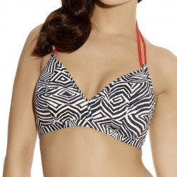 Freya Zulu Soft Triangle Bikini Top - Zebra Print