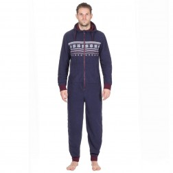 Onezee Fairisle Fleece Onesie - Navy