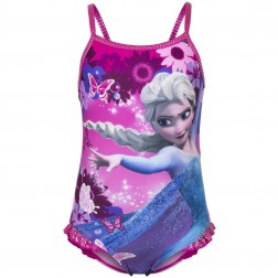 Girls Disney Frozen Butterfly Swimsuit