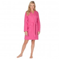 Forever Dreaming Waffle Robe - Hot Pink