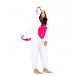 Loungeable Boutique Unicorn Onesie - White