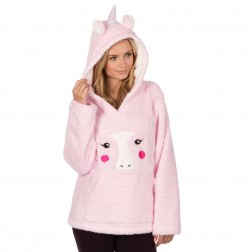 Forever Dreaming Unicorn Fleece Lounge Top - Pink