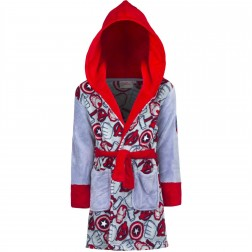Kids Marvel Avengers Fleece Robe - Grey