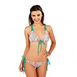 Boutique Paisley Print Bikini Set - Multi/Sea Green