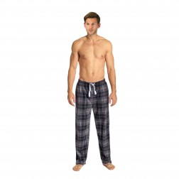 Cargo Bay Fleece Pyjama Bottoms - Grey Check