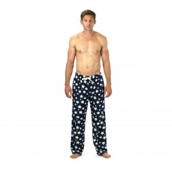Cargo Bay Fleece Pyjama Bottoms - Navy Star