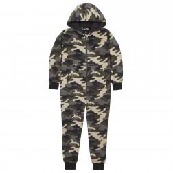 Onezee Camouflage Fleece Onesie - Green