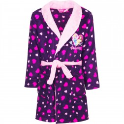 Kids Disney Princess Fleece Robe - Purple