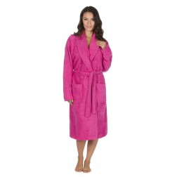 Forever Dreaming Cotton Towelling Robe - Hot Pink