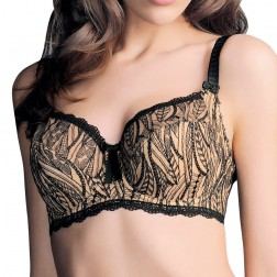 Fauve Maya Full Cup Bra With Side Support - Black