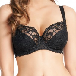 Fauve Chloe Underwired Balcony Bra - Black