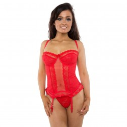 Gemm Lace Style Basque - Red