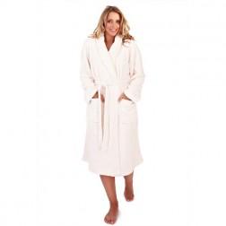 Ladies Super Soft Fleece Dressing Gown - Cream