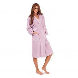 Ladies Super Soft Fleece Dressing Gown - Lilac