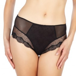Panache Elsa High Waist Deep Brief - Black