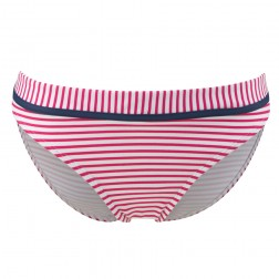 Panache Cleo Lucille Bikini Brief - Strawberry/White