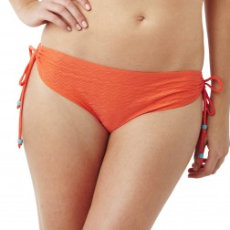 Panache Cleo Matilda Drawstring Bikini Brief - Orange
