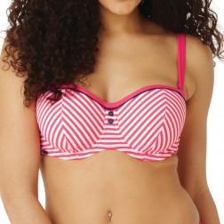 Panache Cleo Lucille Bandeau Bikini Top - Coral