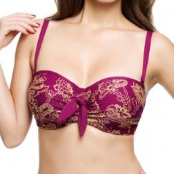 Panache Veronica Bandeau Bikini Top - Paisley Print