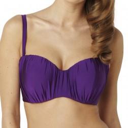 Panache Marina Bandeau/Strapless Bikini Top - Amethyst