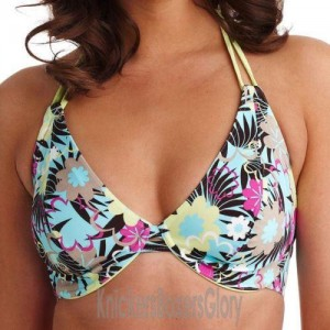 Freya Moonflower Bandless Halter Bikini Top - Oasis