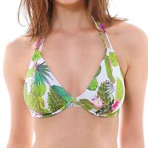 Freya Cactus Bandless Halter Bikini Top - Lime Fizz