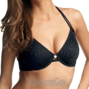 Freya Cha Cha Bandless Halter Bikini Top - Black