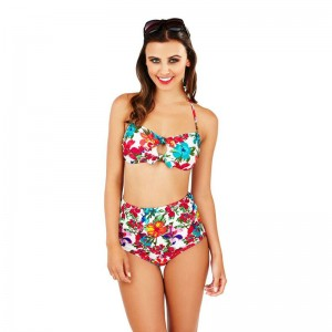 Boutique Floral Bandeau Bikini Set