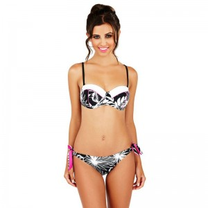 Boutique Monochrome Floral Bikini Set