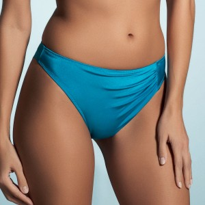 Fantasie Corsica Draped Bikini Briefs - Blue Jewel