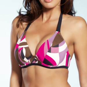 Fantasie Athens Halter Neck Bikini Top - Pink Flambe